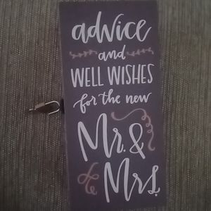 Advice and well wishes box for wedding